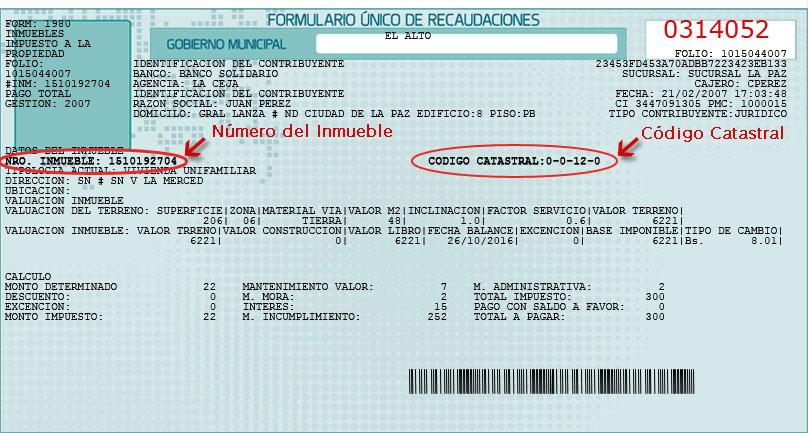 RUAT - REGISTRO UNICO PARA LA ADMINISTRACION TRIBUTARIA MUNICIPAL ::